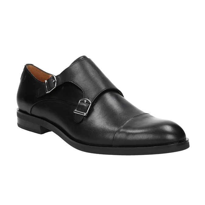 Men's leather Monk Shoes vagabond, black , 814-6023 - 13