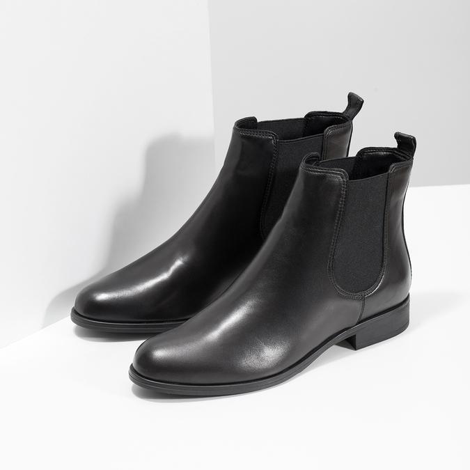 Ladies' Leather Chelsea Boots bata, black , 594-6661 - 26