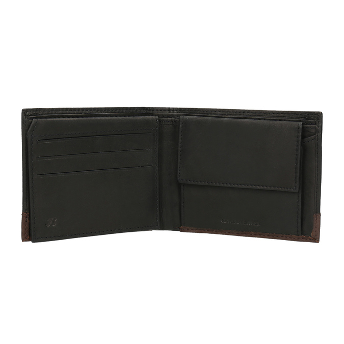 Men's leather wallet, black , 944-6149 - 15