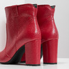 Red leather high ankle boots bata, red , 794-5652 - 18