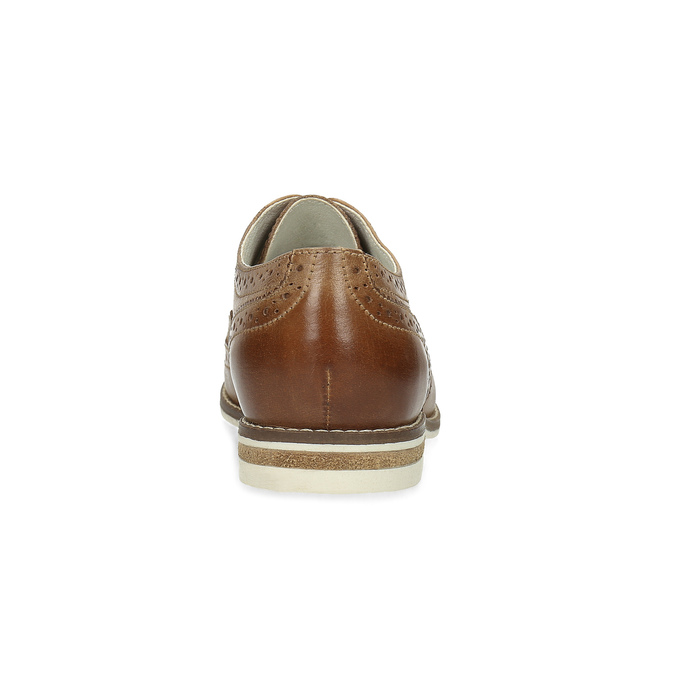 Ladies' leather shoes bata, brown , 526-3649 - 15