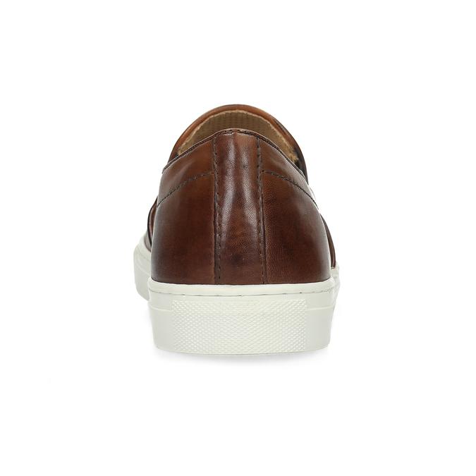 Men's Leather Slip-Ons bata, brown , 836-4601 - 15