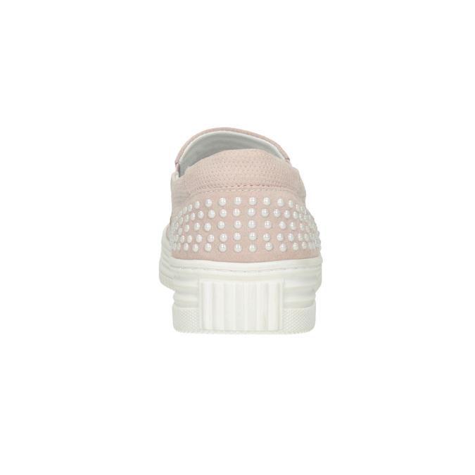 Ladies' leather Slip-on shoes bata, pink , 533-5600 - 16